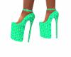 High heels china green