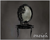 Dark Mirror Table