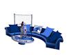 Blue Wave Dance Sofa