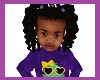kids purple bow twists