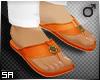 SA: Orange Chappals