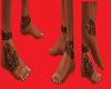 piedi con tatu uomo