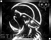 Moon Wolf Sticker*1 :K: