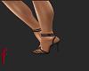 [F] black sandals