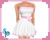 [S] White Pink C Dress