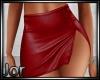 *JJ* Leather skirt red