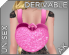 ~AK~ Pink Heart Backpack