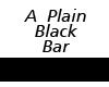 Small Plain Black Bar