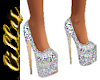 Crystal glitter heels