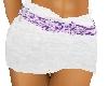 LL-White Shorts/Prp belt