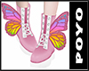 Butterfly Boots-pink