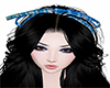 Blue Tartan Hair Ribbon