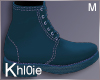 K Teal fall boots M