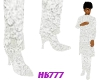 HB777 Lace Boots White