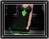 black green diamond dres