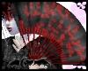 Blk Red Sakura Fan+Dance