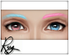 Blue+Pink Eyebrows