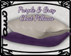 Purple&Grey Chat Pillows