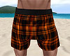 Orange PJ Shorts Plaid M