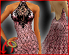 Halter Gown Lace/Pink