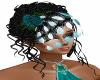 Bridesmaid Teal Veil