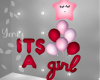 It´s A Girl Ballons Red