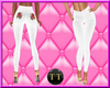 TT*White leather pants