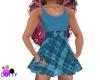 girls blue plaid dress