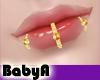 ! BA 3 Gold Lip Rings