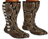 Soft Snake Skin Boots