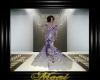 Elegant Gown Purple Lace