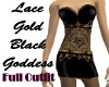 Lace Gold Black Goddess