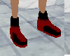(pi) red & black shoes