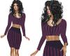 TF* Top & Skirt Purple