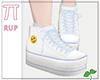  Pi  Blue Emoji Sneakers