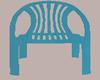 (L) Plastic Blue Chair