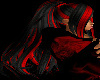 Black & Red Ponytail