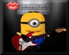 Minion with gitar pet