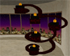 FCS BLKRED Candle Sconce