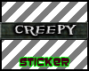 Creepy Tag Sticker