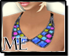 M* Aztec Collar Blue
