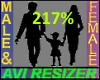 217% Tall