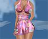 silky pink sexy dress