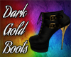 Dark Black&Gold Boots