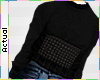 ☯ Black Mesh Sweater