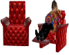 Red Kissing Recliner