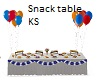 Snack Table with Balloon