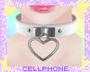 heart collar (white) ❤