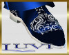 LUVI NAVY & SILVER SHOES