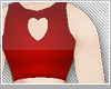 ♡r heart crop top♡